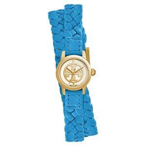 Tory Burch 'Reva' Leather Strap Watch, 20mm